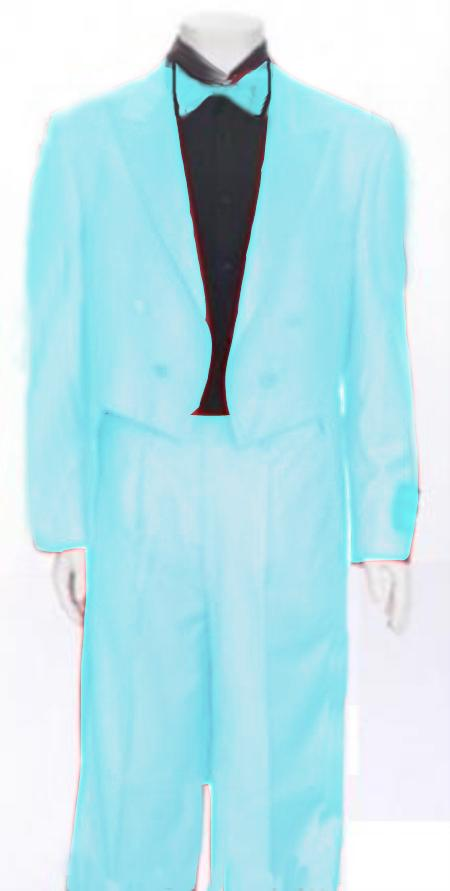 "SKU#SKB770 Mens Tail Peak Lapel Sky Blue Tuxedo Pre Order Collection ""Delivery in 30 days"" $795"