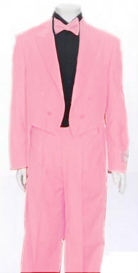 "SKU#PNK111 Mens Tail Peak Lapel Pink Tuxedo Pre Order Collection ""Delivery in 30 days"" $795"