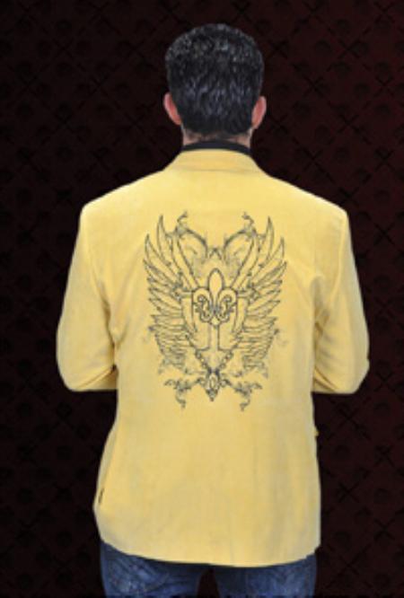 MensUSA Mens Corduroy 2 Button Sport Coat Notch Lapel Side Vents Yellow at Sears.com