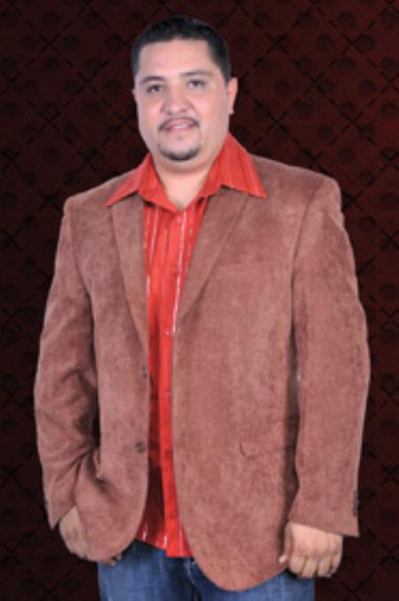 MensUSA.com Mens Corduroy 2 Button Sport Coat Notch Lapel Side Vents Light Brown(Exchange only policy) at Sears.com