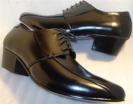 SKU#BLK9741 Super Soft Leather Comfort Black Shoes $99