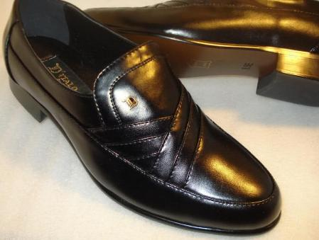 SKU#RTD8167 Black Super Soft Leather Dress Shoes $99