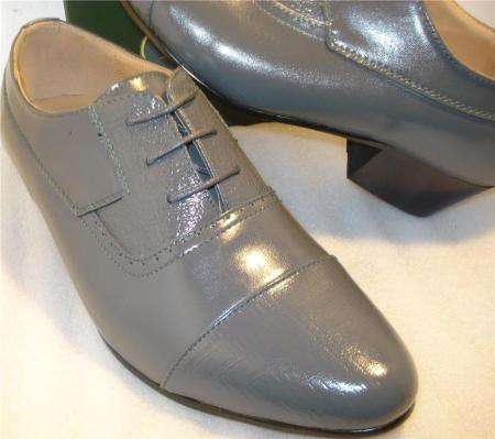 SKU#GRY6566 High Quality Grey Oxford Shoes $99