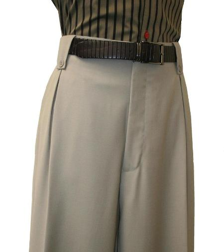1930s Style Men's Pants Pleated Wide Leg Pants Wool-feel Tan Mens TrousersSlacks Cheap $99.00 AT vintagedancer.com