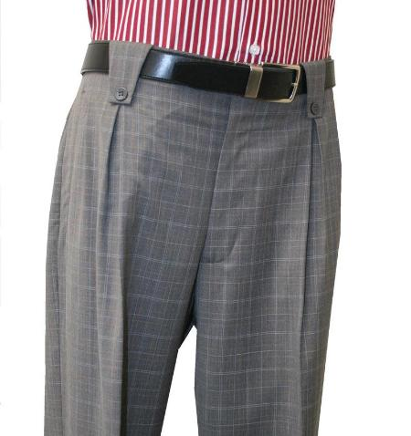 1920s Style Men's Pants & Plus Four Knickers Mens Charcoal Wide Leg Pants $99.00 AT vintagedancer.com