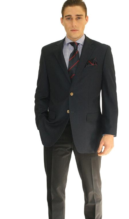 MensUSA.com Mens 2 Button Navy Sport Jacket Blazer(Exchange only policy) at Sears.com