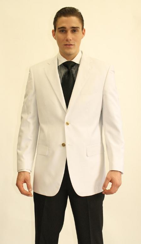 2 Button White Dinner