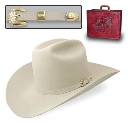 SKU#SLB6562 Genuine Chinchilla and Beaver Fur 1000X Felt Hat Silverbelly $3479