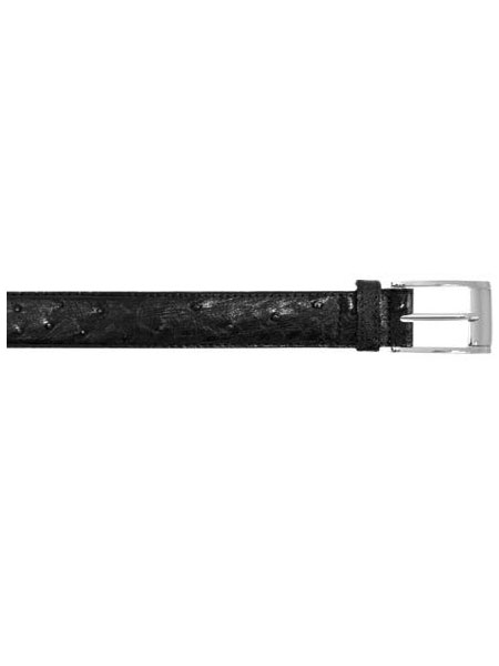 SKU#ADG6011 All-Over Genuine Ostrich / Crocodile ~ alligator Black Belt $119