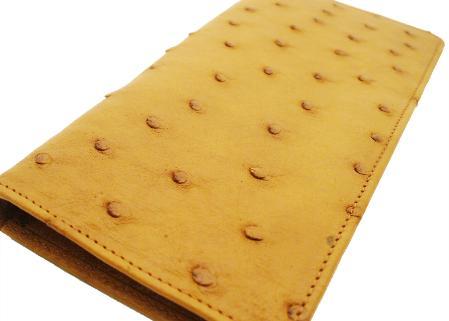 SKU#BUC8911 Ostrich Checkbook - Buttercup $220