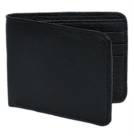 SKU#ELK9911 Wallet ~ billetera ~ CARTERAS Black Genuine Elk Card Holder Wallet