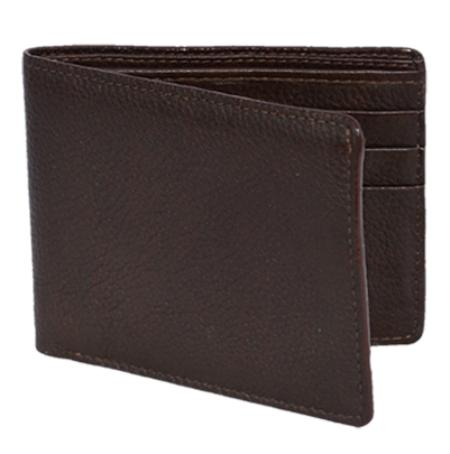 SKU#BGE6363 Los Altos Brown Genuine Elk Card Holder Wallet $49