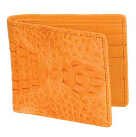 SKU#BCP1800 Los Altos Buttercup Genuine Crocodile Card Holder Wallet $109