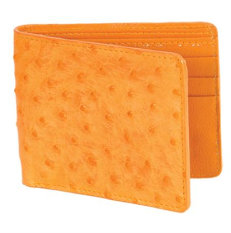 SKU#BHL8866 Los Altos Buttercup Genuine Ostrich Card Holder Wallet $109