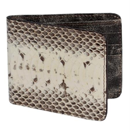 SKU#WMS1001 Wallet ~ billetera ~ CARTERAS Natural Genuine Water Snake Card Holder Wallet