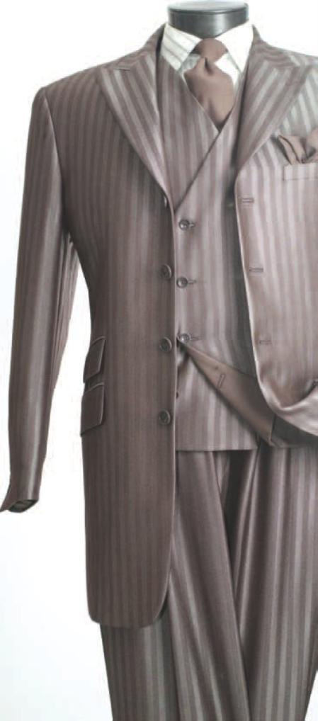 brown suit blue pinstripe suit