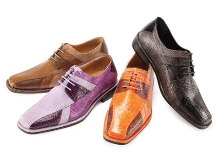SKU#OCX8855 Oxford Mens Fashuon Shoes Lilac/Deep Purple/Lavender, Pumpkin/Cognac/Rust $99