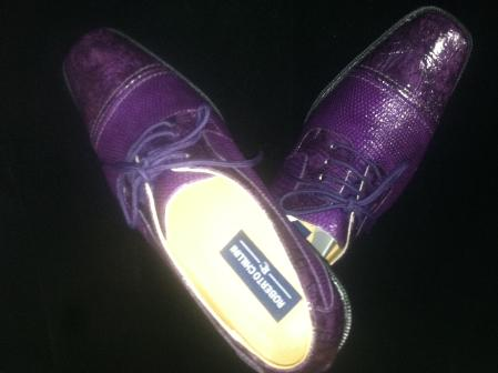 SKU#PRL8192 Mens Classic Purple Shoes $99