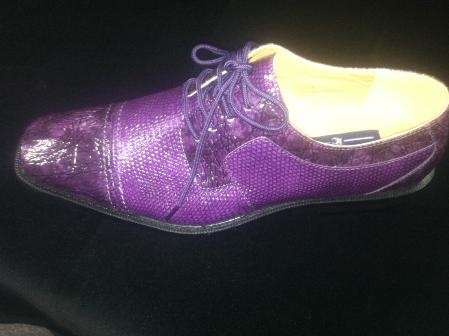 SKU#LPC6891 Stylish Purple Shoes for Men $99