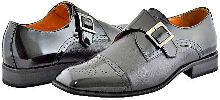 SKU#NAI0821 All New Giorgio Venturi Mens Black Dress Shoes $99