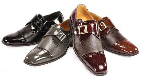 SKU#BFG1931 Mens Giorgio Venturi Dress Shoes in Shades of Black, Gray, Brown, Burgundy $99