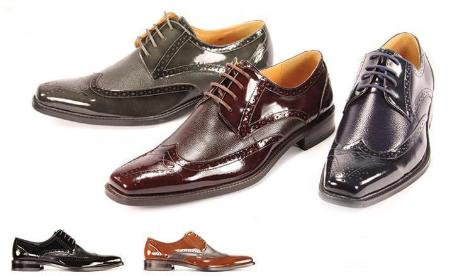 SKU#LJK7192 New Mens Giorgio Venturi Dress Shoes in Black, Burgundy, Lt Brown, Gray, Navy $99