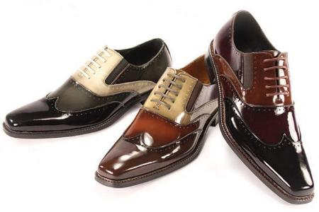 SKU#KXN2812 New Mens Giorgio Venturi Dress Shoes in Chocolate Brown, Gray, Burgundy $99