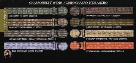 """SKU#KA4435 Ostrich Print Mens Cowboy Belt 1.5"""" Width $89"""