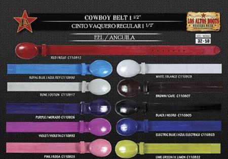 Eel Mens Cowboy Belt