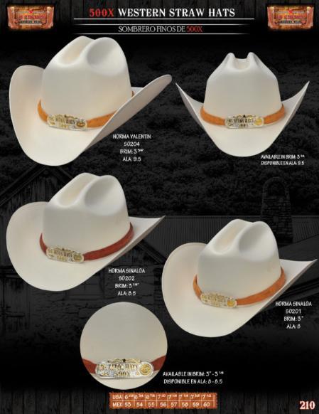 SKU#NAK9193 500x Norma Style Western Cowboy Straw Hats $90