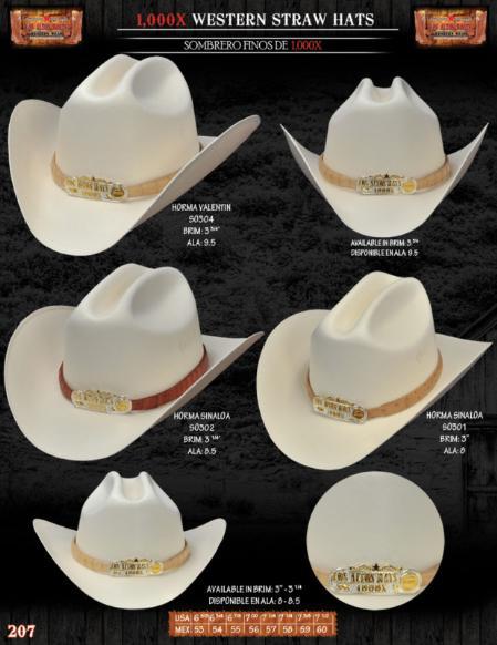 SKU#STR8201 1,000x Norma Western Cowboy Straw Hats $120