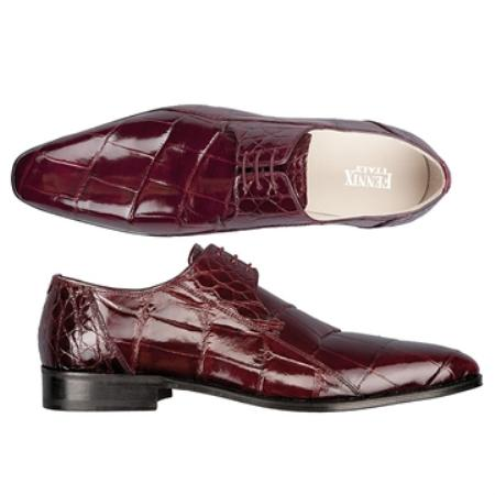 SKU#TB6784 FENNIX ITALY Wine Genuine Alligator $650