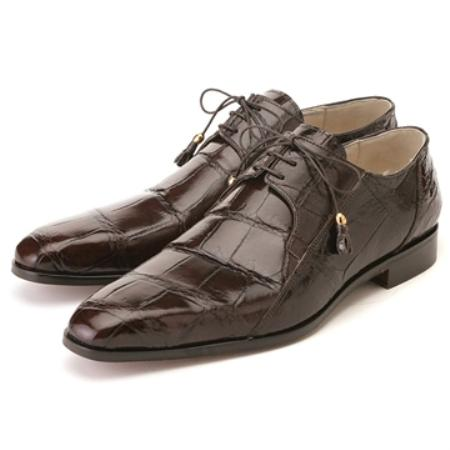 SKU#PF6789 FENNIX ITALY Chocolate Genuine Alligator $650
