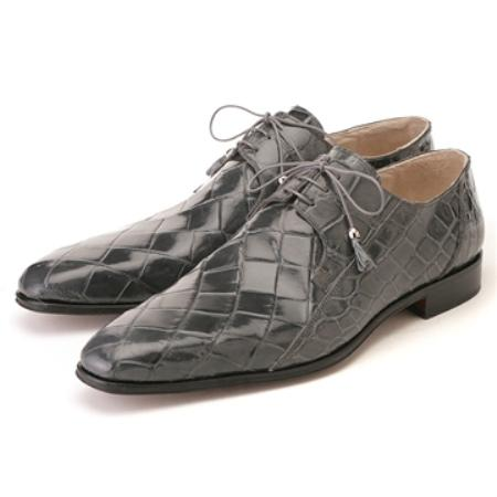 SKU#YH5652 FENNIX ITALY Medium Grey Genuine Alligator $650