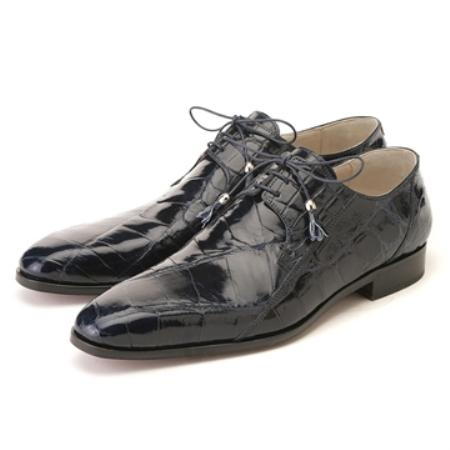 SKU#UJ5799 FENNIX ITALY Navy Blue Genuine Alligator $650