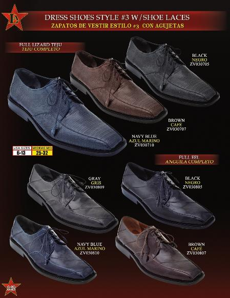 SKU#BGM9011 Mens Genuine Full Teju Lizard/Eel Lace Up Oxford Dress Shoes $229