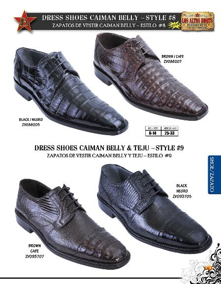 SKU#BNM1831 Genuine caiman ~ alligator Belly/Teju Lizard Mens Dressy Shoe Black & Brown $259