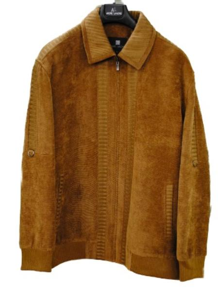 SKU#OKA7183 Mens Corduroy Jacket Camel, Olive, Black, Brown $199