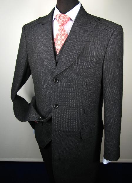 MensUSA Mens 3 Button 3 Piece Vested Suits Navy at Sears.com