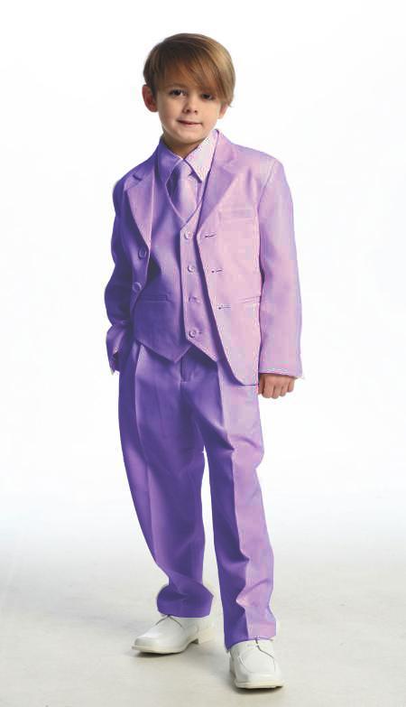 SKU#LVD9124 Single Breasted Boys Suit Lavender $114