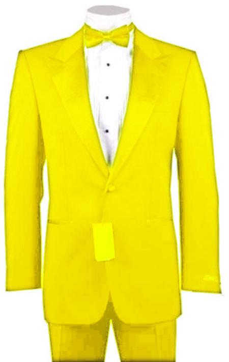 "SKU#YLW8155 1 or 2 Button Peak Lapel  Tuxedo Yellow Pre Order Collection ""30 Days Delivery"" $795"