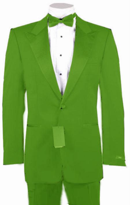 "SKU#LMG8904 1 or 2 Button Peak Lapel Tuxedo Lime Green Pre Order Collection ""30 Days Delivery"" $985"