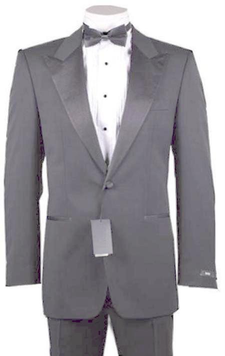 SKU#LGR9172 1or 2 Button Peak Lapel Tuxedo Light Grey ~ GrayPre Order Collection