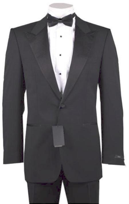 New Vintage Tuxedos, Tailcoats, Morning Suits, Dinner Jackets 1 or 2 Button Peak Lapel Tuxedo Dark Gray Pre Order Collection 30 Days Delivery $485.00 AT vintagedancer.com