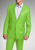 "SKU#APG7891 Shiny Sharkskin Bright Flashy Satin Metallic Apple Green Suit Pre Order Collection ""80 Days Delivery"" $750"
