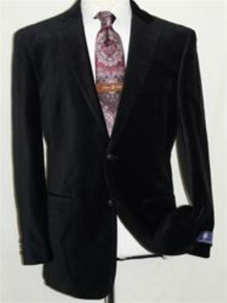 SKU#IS8874 Velvet Navy Blue Sport Coat Blazer By Giorgio Cosani $139