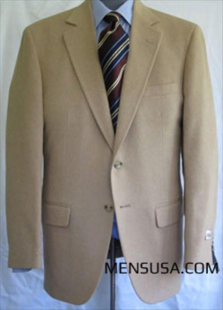 SKU#UL5545 Single Breasted Camel Hair Sport Coat $275
