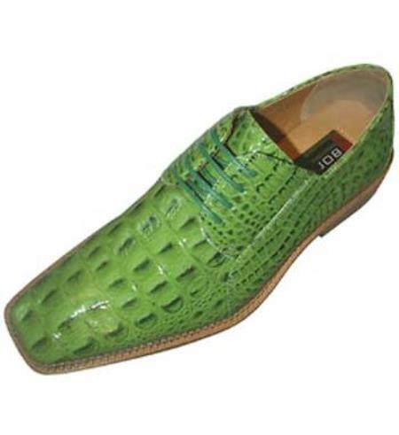 SKU#FV8762 classic comfortable latest in fashion Lime Green ~ Apple ~ Neon Bright Green Mens Dress Shoe $99