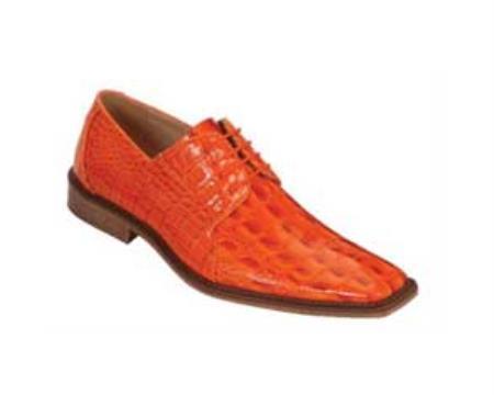 SKU#DE5579 classic comfortable latest in fashion Bright Orange Mens Dress Shoe