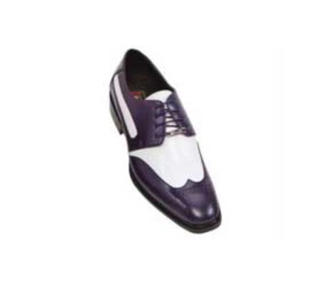 SKU#BP5578 classic comfortable latest in fashion Purple / White Mens Two Tone Dress Shoe